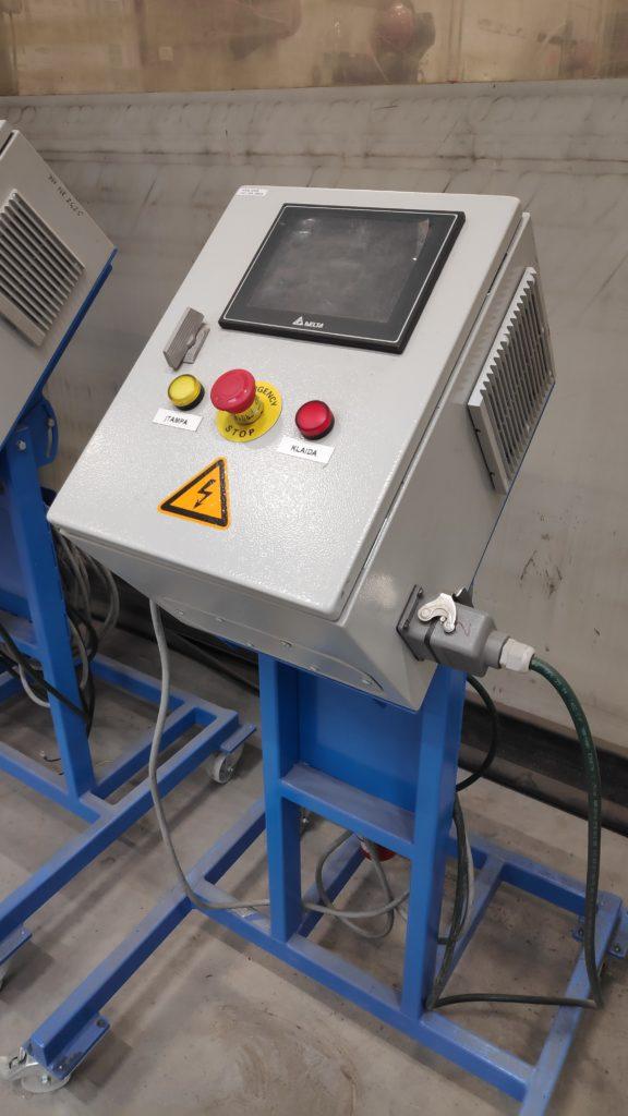 Elektros variklių bandymo skydas su HMI valdymo sąsaja